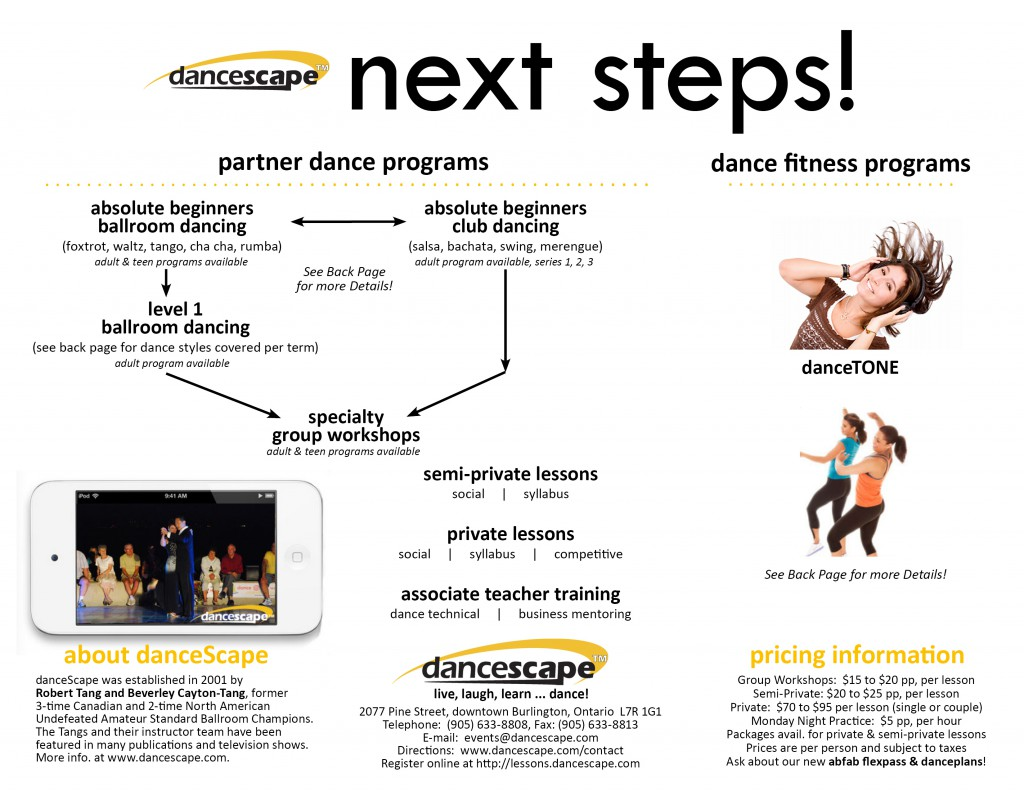 danceScape Dance Programs - Next Steps