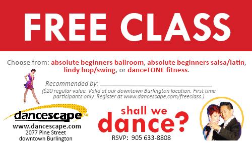 danceScape Free Class Pass