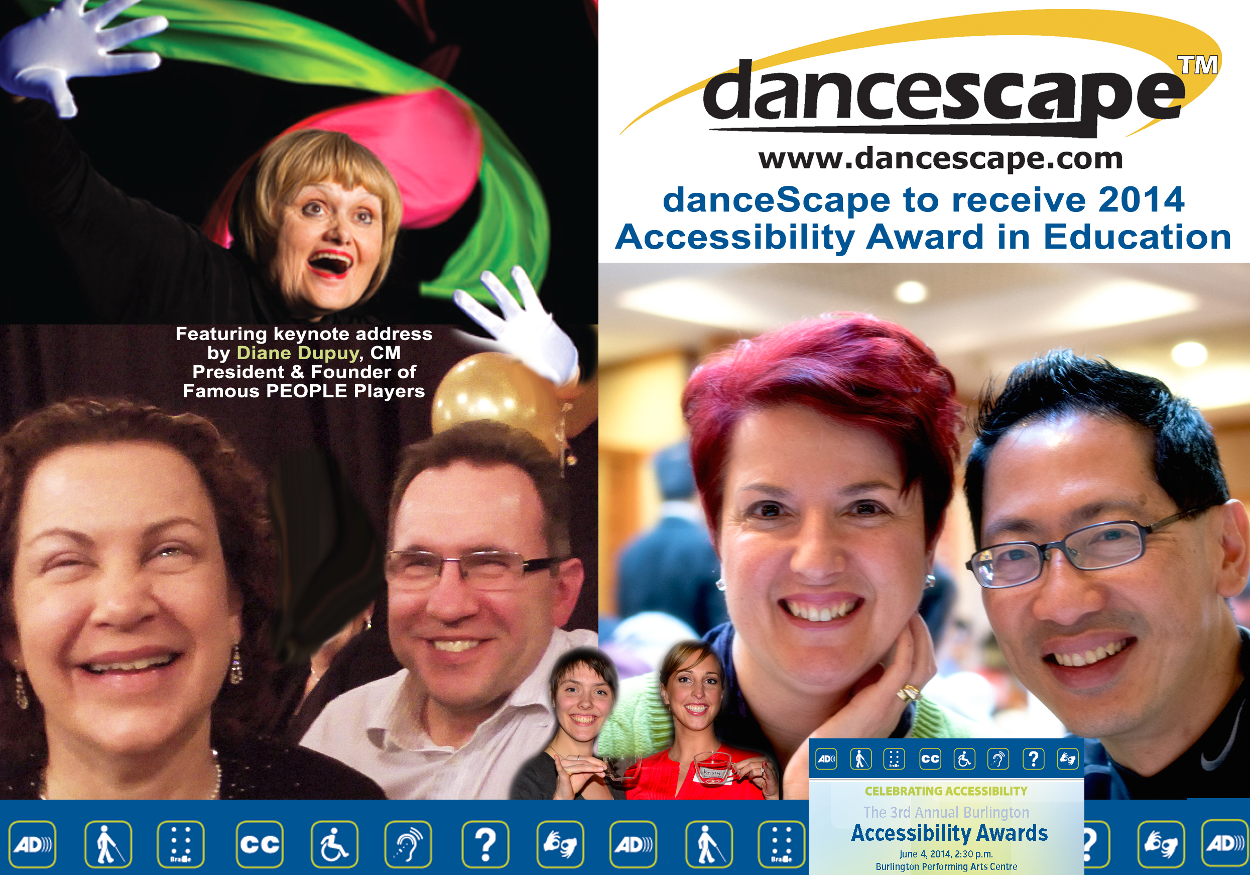 Join danceScape at the Burlington Accessibility Awards