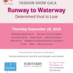 "Runway to Waterway Fashion Show Gala & Fundraiser – From ""Blue Jeans to Ballgowns"""