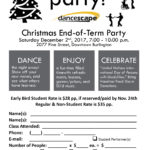 danceScape End-of-Term Christmas Party