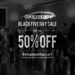 danceScape Black Five Day Sale